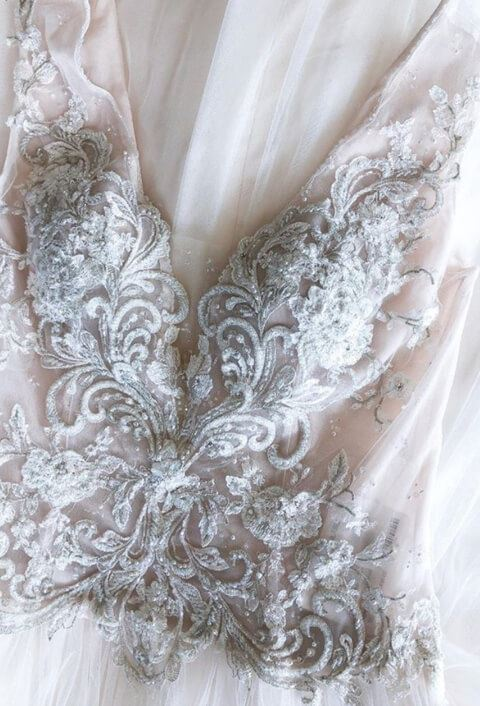 Wedding Dress with decoration